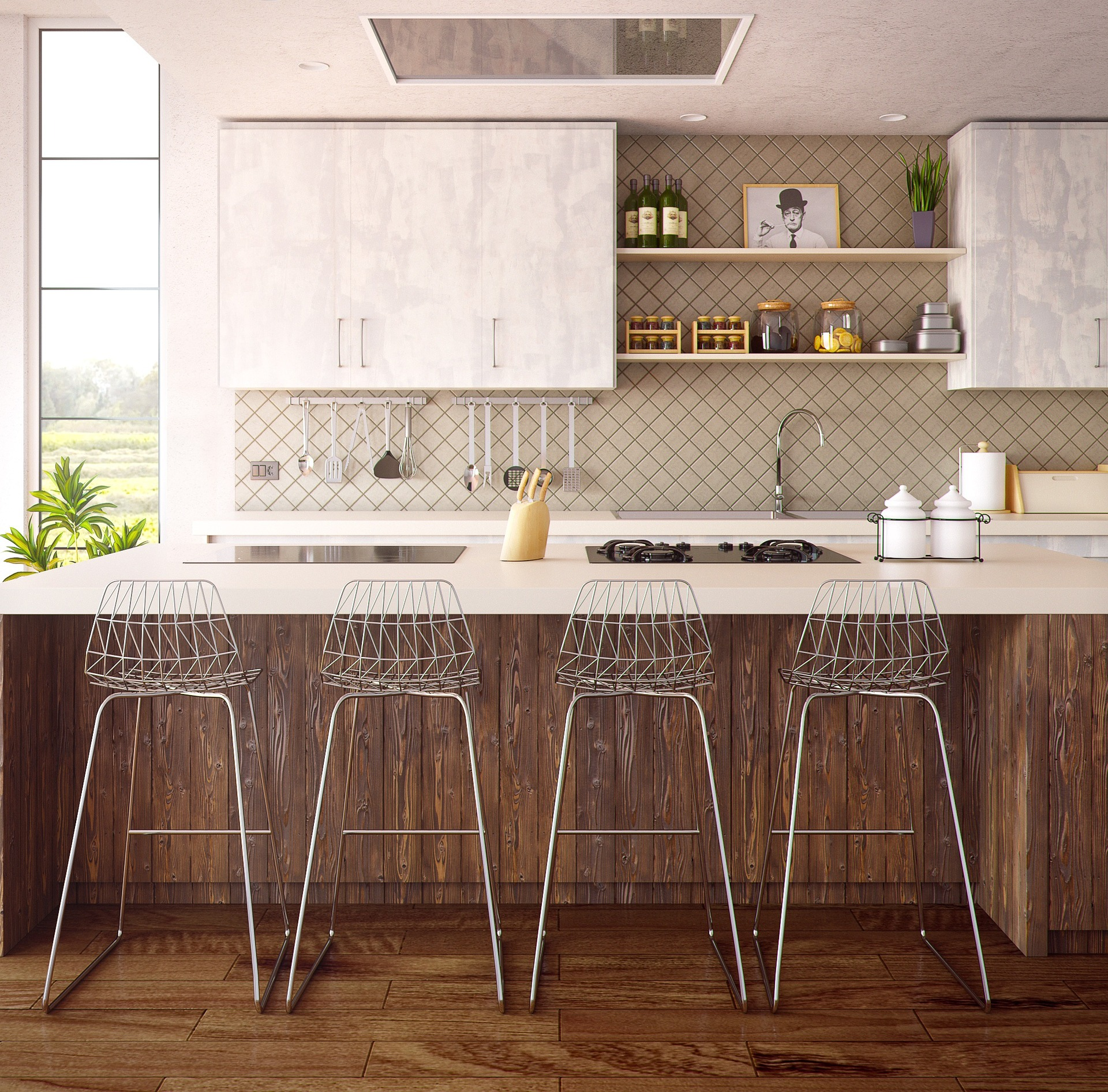 Cool Le Carrelage Mural Pour Vos Cuisines With Percer Carrelage Mural